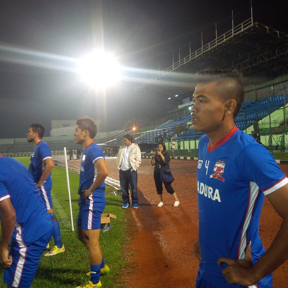 Kondisi saat ini (skuad Madura United Menjajal stadion Siliwangi)
