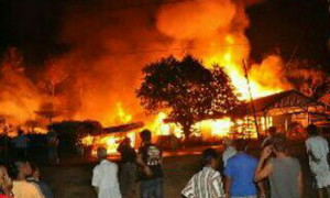 Pabrik Mebel Keluarga  Presiden Jokowi Terbakar