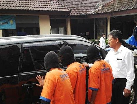 Para Pelaku di Mapolres Bangkalan