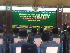Bupati Sampang Lantik 79 Pejabat Di Lingkungan Pemerintah Kab. Sampang