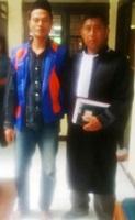 Terdakwa Muh. Toha dan H. Abd. Razak, SH (Penasehat Hukum)