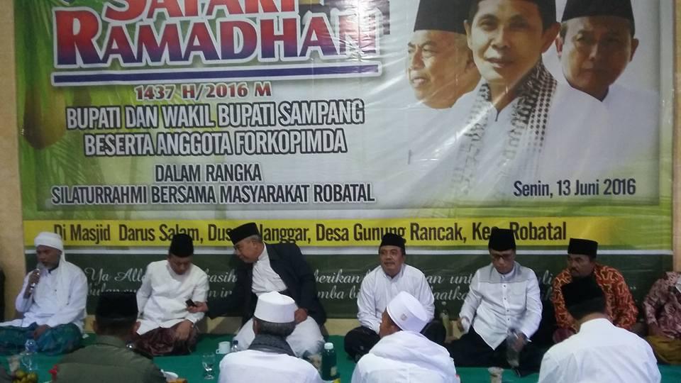 Wabup Sampang dalam Acara Safari Ramadhan
