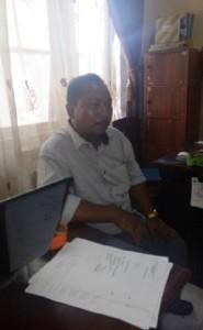 Miftahul Arifin saat berada diruangan Kanit II Pidek (Polres Sampang)