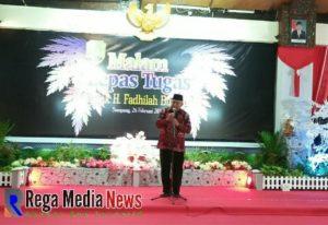 Lepas Tugas Bupati Sampang H. Fadhilah Budiono, Minta Maaf ke Seluruh Masyarakat