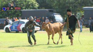 Tim Cobra Tangkap Maling Sapi di Halaman Mapolda Jatim
