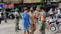 Pengunjung dan Pedagang Pasar Srimangunan Sampang Jadi Sasaran Ops Yustisi
