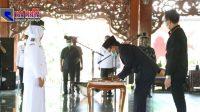 Bupati Baddrut Tamam Lantik Dua Kades PAW di Pamekasan