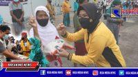Peringati HPN, Kapolres Tanjung Perak Gandeng Insan Pers Gelar Baksos
