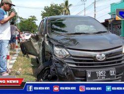 Ceroboh, Tiga Kendaraan R4 Kecelakaan Didepan Pertamina Camplong Sampang