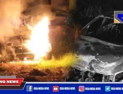Si Jago Merah Hanguskan Mobil Operasional PWI Sampang