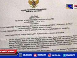 Beredar SK 75 Pegawai KPK Yang Tak Lolos TWK Dibebastugaskan