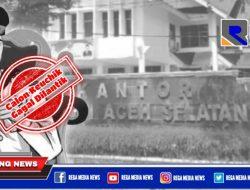 Asisten I Pemkab Aceh Selatan Tanggapi Gagalnya Pelantikan Keuchik Sieneubok Jaya