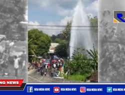 Semburan Air PDAM di Ketapang Sampang Jadi Tontonan Warga