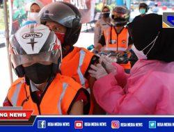 Wartawan Surabaya Dapat Giliran Vaksinasi Drive Thru
