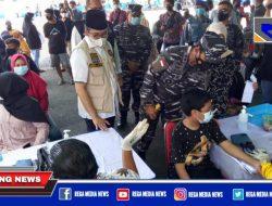 Koarmada II TNI AL Gelar Serbuan Vaksin di Bangkalan