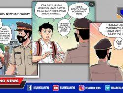 Sosialisasikan Prokes Melalui Gambar Kartun
