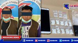 Dua Pria Pengangguran Dibekuk Satresnarkoba Polrestabes Surabaya
